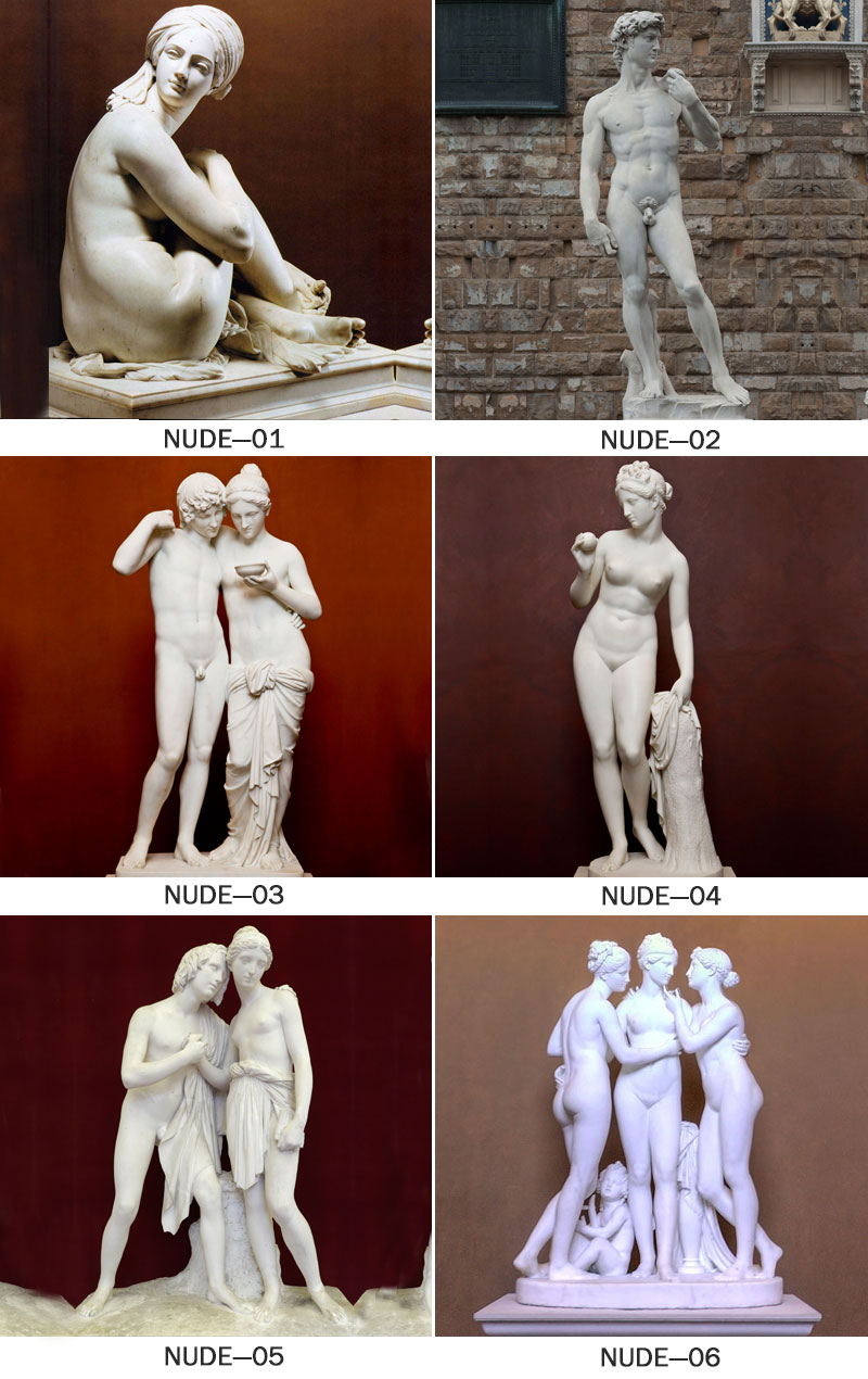 white marble naked statues young naked girl stone statue model for sale