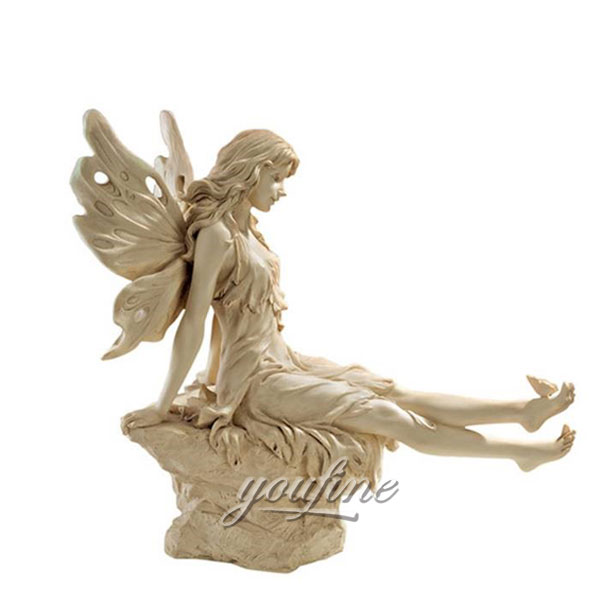 Beautiful statues Life size marble sculptures of Twinkle Toes Fairy Statue lawn ornaments for sale