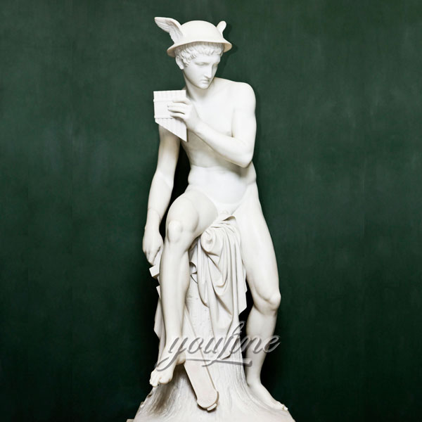 Best marbl sculptures life size stone Mercury about to Kill Argus by Thorvaldsens Museum for sale