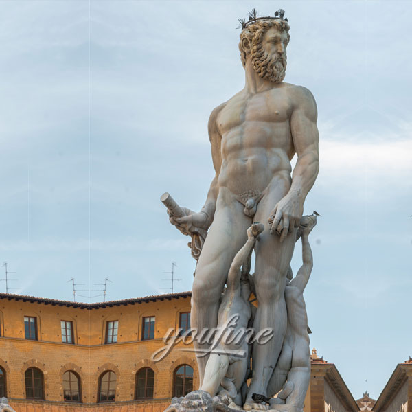 Best marble sculptures life size Poseidon statue for sale