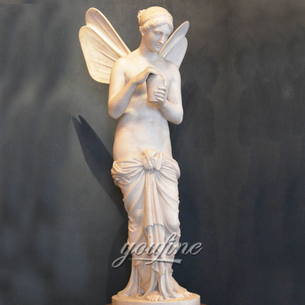 Famous art angel wings sculpture marble statues for sale