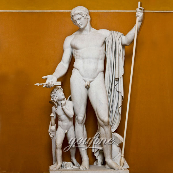 Famous art life size sculptures Mars and Cupid by Bertel Thorvaldsen design