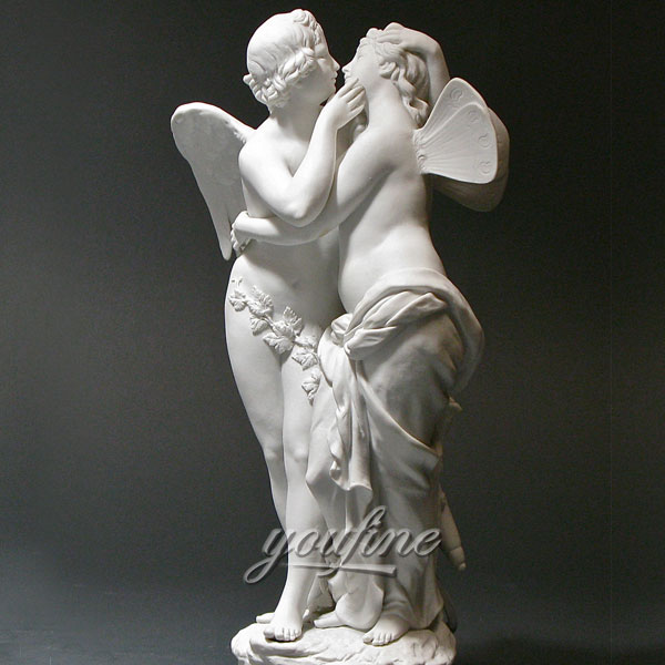 Famous art sculpture Indoor life size Amor und psyche statue angle statue for sale