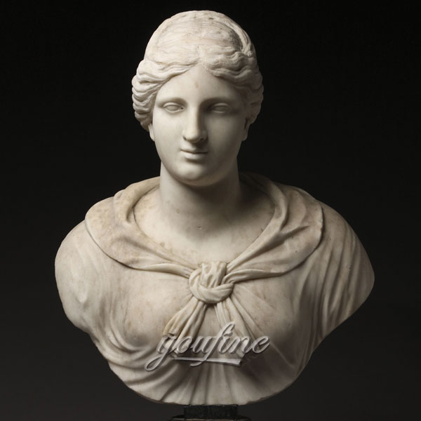 Famous art sculptures Italian Grand Tour Marble Bust of Diana or Artemis for indoor decor