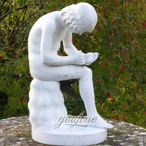 Famous sculptures Spinario of Boy Pulling a Thorn from His Foot)