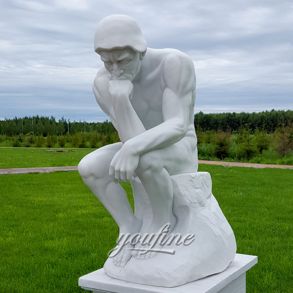 Famous sculptures in the world marble The Thinker by Auguste Rodin for sale