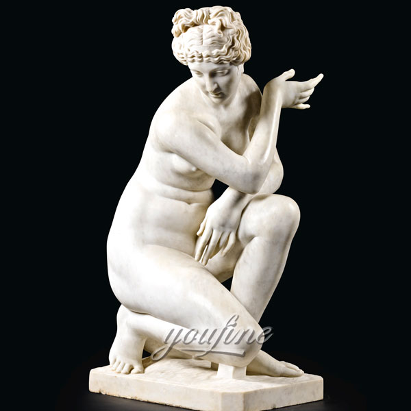 Famous sculptures of life size stone Crouching Venus for home decor