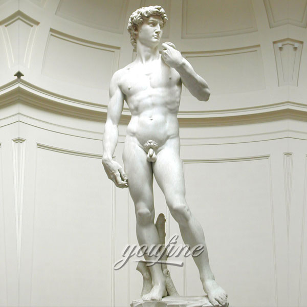 Famus art sculptures in the world life size white marble Michelangelo Sculptures David for sale