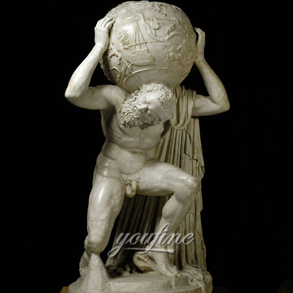 Life size famous art statue Farnese Atlas for sale