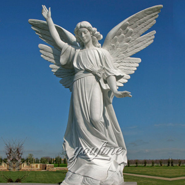 Marble angel sculpture famous cherokee memorial park for decor