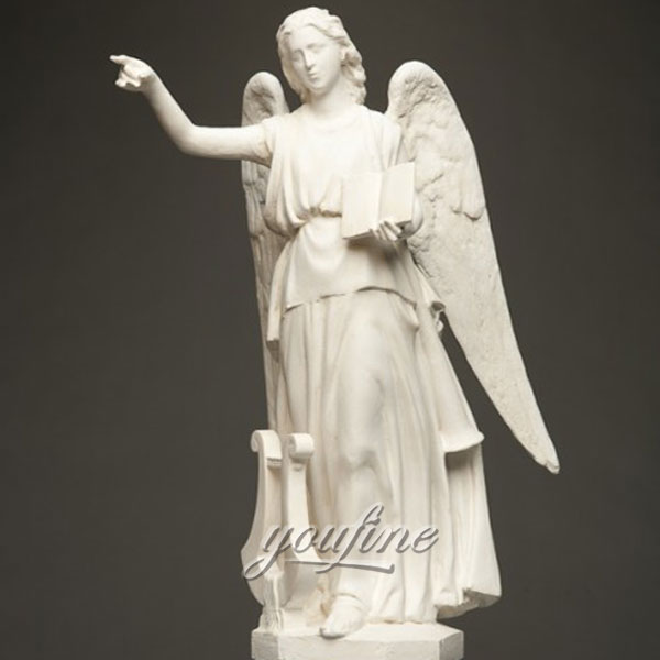 Outdoor decor life size stone large Praying angel marble statues for sale