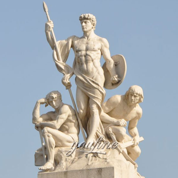 Outdoor famous art sculptures in Rome for square decor