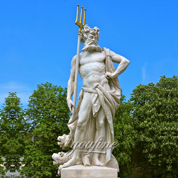 Outdoor garden decor life size marble Nymphenburg Statue im Gartenparterre for sale