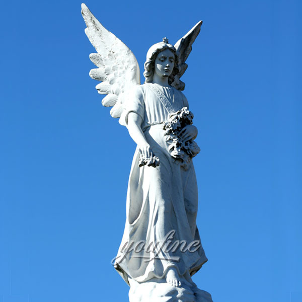 Outdoor life size Large angel statue for garden decor