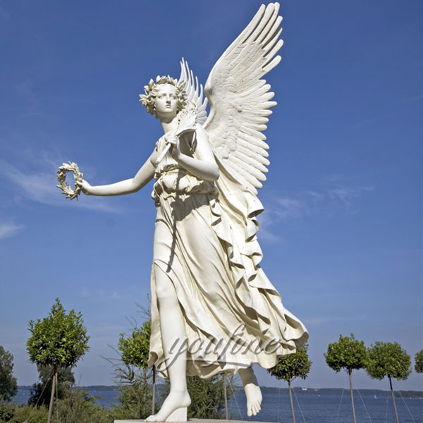 large angel stone marble Statues for garden decoration