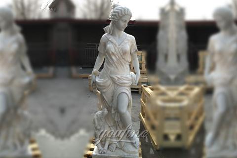 artemis the greek goddess of the hunt statue