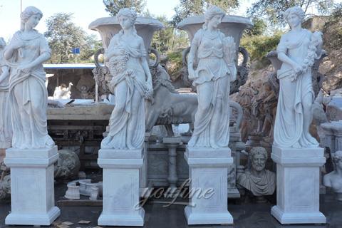 the goddess of four seasons sculptures